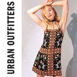 Urban Outfitters Ecote Zebra Print Slip Dress